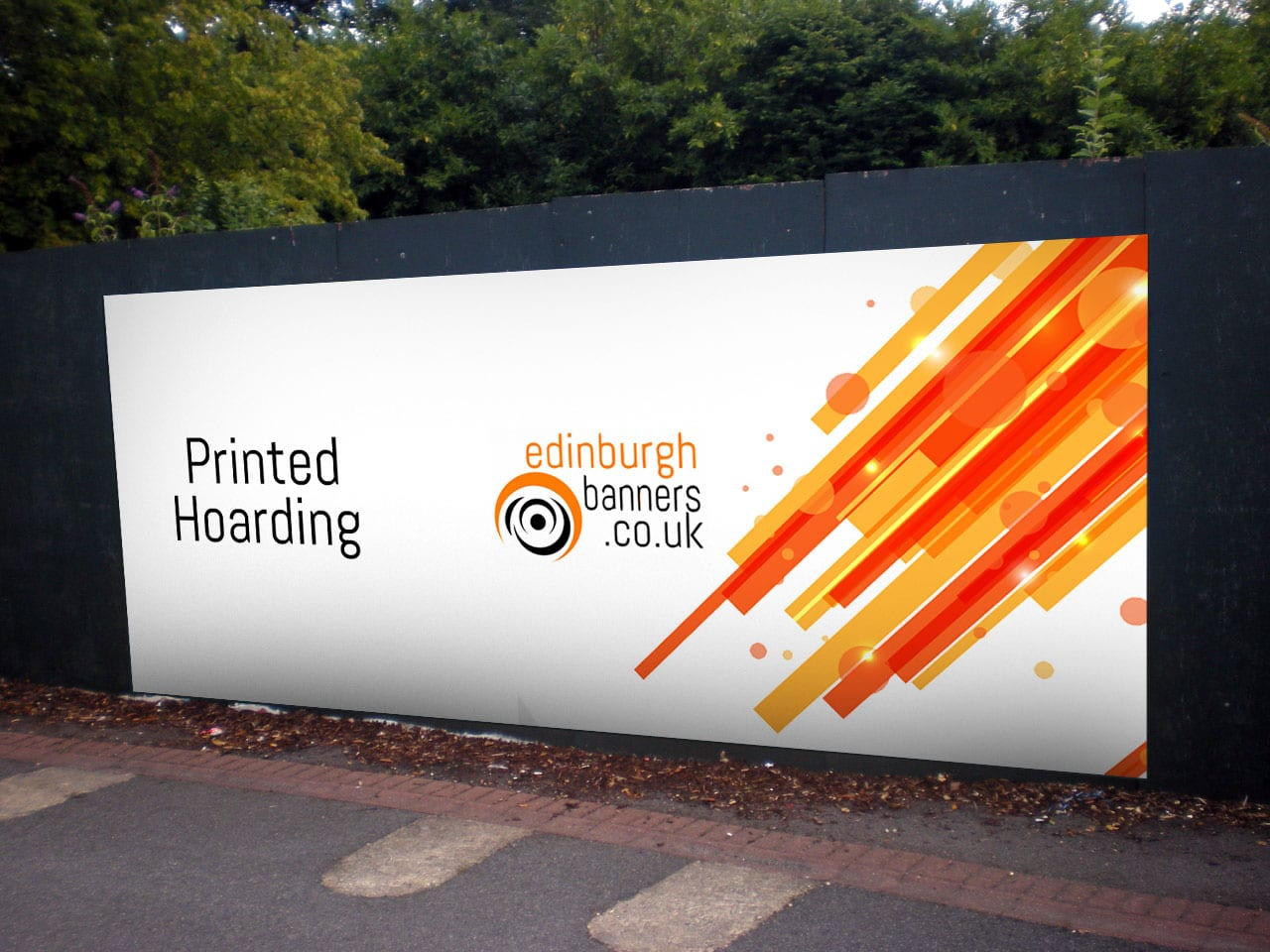 Marketing Exhibition Stand Builders : Printed hoarding panels site advertising outdoor