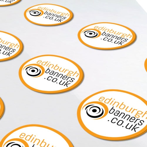 Round Colour Printed Stickers