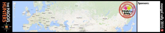 Mongol Rally Giant Map
