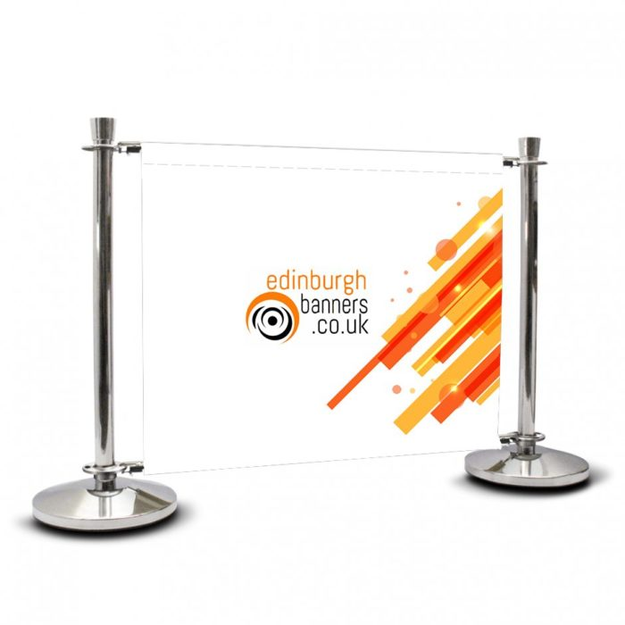 Printed Cafe Barrier Graphic