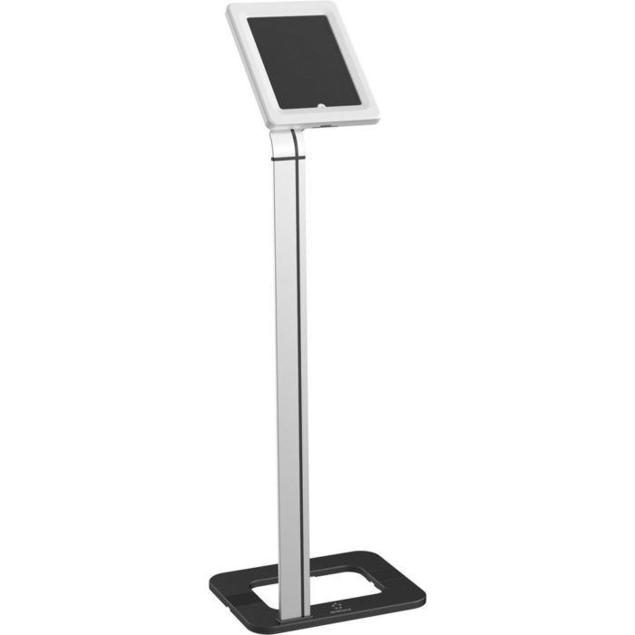 Plain Silver Freestanding Tablet Holder