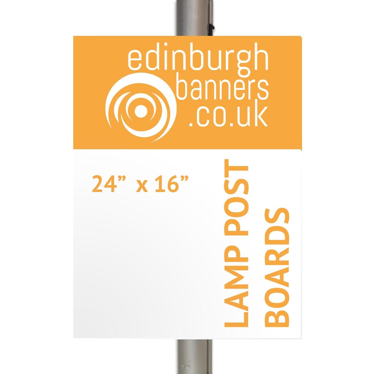 Buy Lamp Post Advertising Boards In Edinburgh Uk