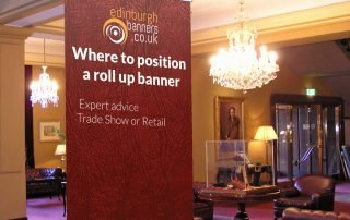 Where to Position A Roll Up Banner