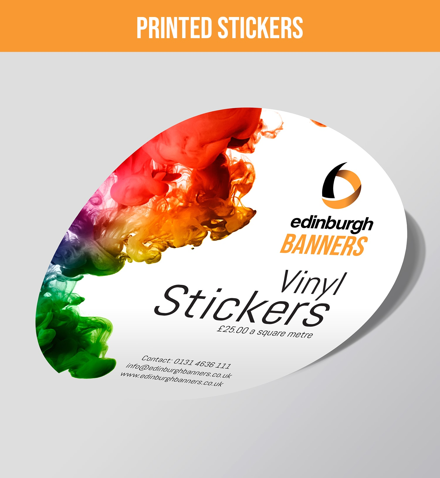 Edinburgh Banners Printed Stickers